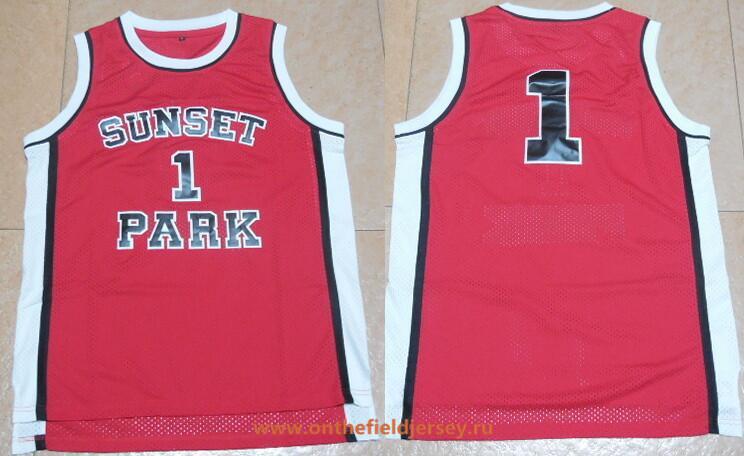 Men's Movie Fredro Starr Shorty #1 Sunset Park Red Swingman Basketball Jersey