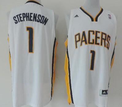 Indiana Pacers #1 Lance Stephenson Revolution 30 Swingman White Jersey