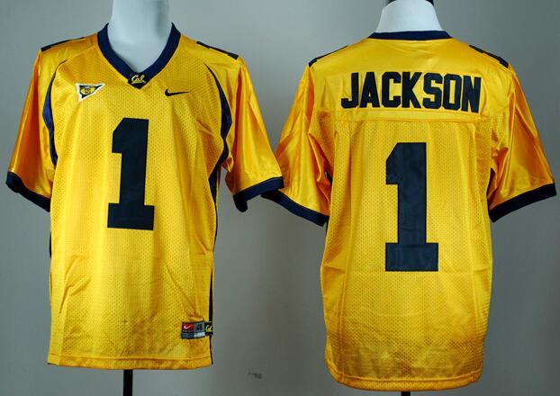 Men's California Golden Bears #1 DeSean Jackson Yellow Stitched College Football Nike NCAA Jersey