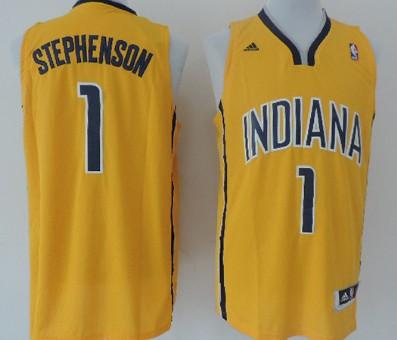 Indiana Pacers #1 Lance Stephenson Revolution 30 Swingman Yellow Jersey