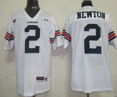 Men's Auburn Tigers #2 Cam Newton White Stitched College Football Under Armour NCAA Jersey