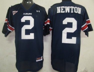 Men's Auburn Tigers #2 Cam Newton Navy Blue Stitched College Football Under Armour NCAA Jersey