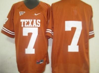 Texas Longhorns #7 Garrett Gilbert Orange Jersey
