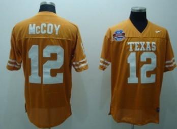 Texas Longhorns #12 Colt McCoy Orange Jersey
