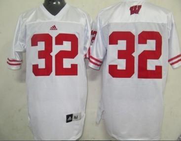Wisconsin Badgers #32 John Clay White Jersey