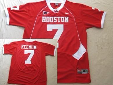 University of Houston #7 Case Keenum Red Jersey