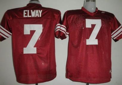 Stanford Cardinal #7 John Elway Red Jersey
