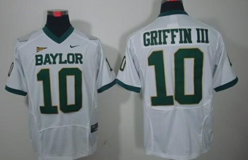 Baylor Bears #10 Robert Griffin III White Jersey