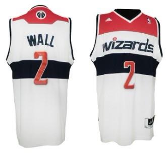 Washington Wizards #2 John Wall Revolution 30 Swingman White Jersey