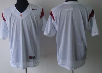 USC Trojans Blank White Jersey