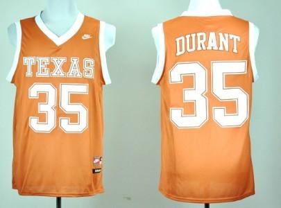 Men's Texas Longhorns #35 Kevin Durant Burnt Orange College Basketball Jersey