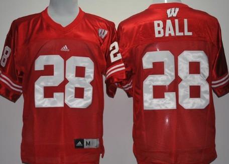 Wisconsin Badgers #28 Montee Ball Red Jersey