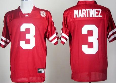 Nebraska Cornhuskers #3 Taylor Martinez Red Jersey