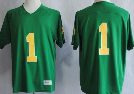 Notre Dame Fighting Irish #1 Louis Nix III 2013 Green Jersey