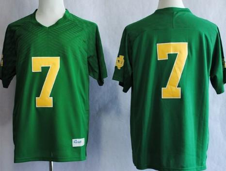 Notre Dame Fighting Irish #7 Stephon Tuitt 2013 Green Jersey