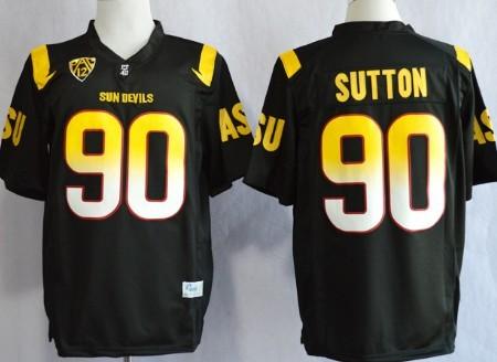 Arizona State Sun Devis #90 Will Sutton 2013 Black Jersey