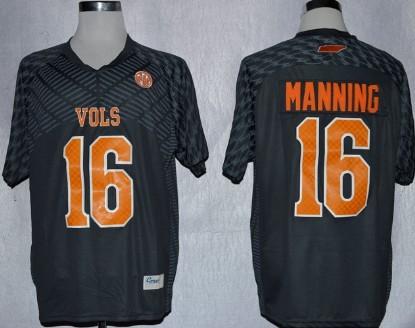 Tennessee Volunteers #16 Peyton Manning 2013 Gray Jersey