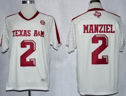 Texas A&M Aggies #2 Johnny Manziel 2013 White Jersey