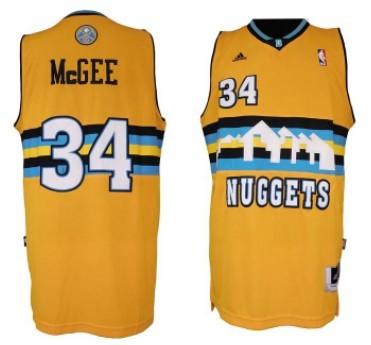 Denver Nuggets #34 JaVale McGee Revolution 30 Swingman Yellow Jersey