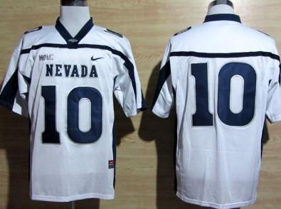 Nevada Wolf Pack #10 Colin Kaepernick White WAC Patch Jersey