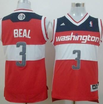 Washington Wizards #3 Bradley Beal Revolution 30 Swingman Red Jersey