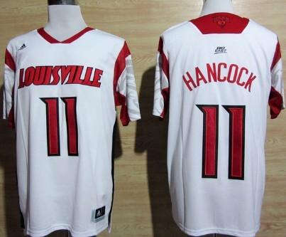 Louisville Cardinals #11 Luke Hancock 2013 March Madness White Jersey
