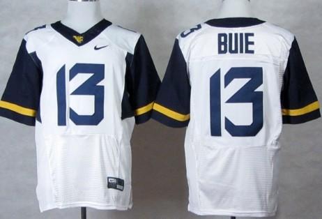 West Virginia Mountaineers #13 Andrew Buie 2013 White Elite Jersey