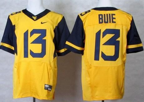 West Virginia Mountaineers #13 Andrew Buie 2013 Yellow Elite Jersey