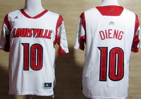 Louisville Cardinals #10 Gorgui Dieng 2013 March Madness White Jersey