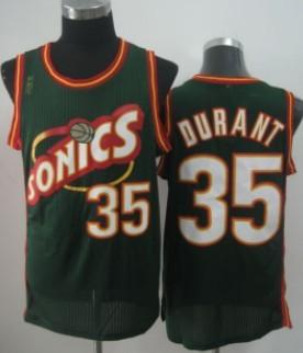 Seattle Supersonics #35 Kevin Durant 1995-96 Green Swingman Jersey
