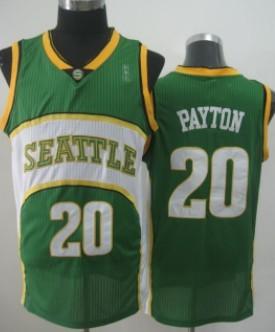 Seattle Supersonics #20 Gary Payton 2007-08 Green Swingman Jersey