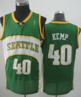 Seattle Supersonics #40 Shawn Kemp 2007-08 Green Swingman Jersey