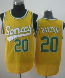 Seattle Supersonics #20 Gary Payton 2003-04 Yellow Swingman Jersey