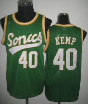 Seattle Supersonics #40 Shawn Kemp 2003-04 Green Swingman Jersey