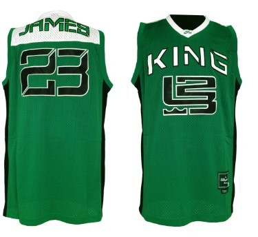Nike Air King #23 Lebron James Green Jersey