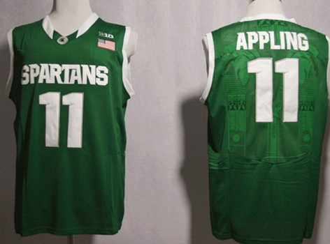 Michigan State Spartans #11 Keith Appling Green Jersey