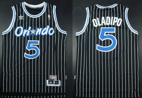 Orlando Magic #5 Victor Oladipo Black Hardwood Classics Soul Swingman Throwback Jersey