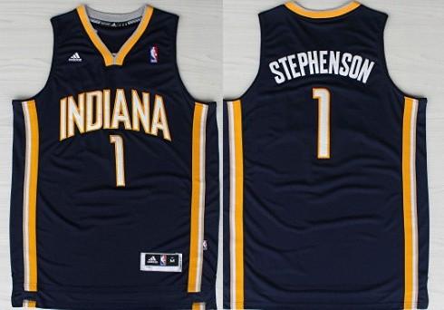 Indiana Pacers #1 Lance Stephenson Revolution 30 Swingman Navy Blue Jersey
