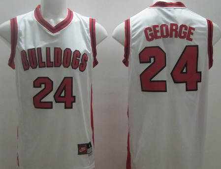 Men's Fresno State Bulldogs #24 Paul George White College Basketball Swingman Jersey