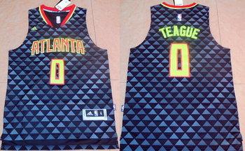 Men's Atlanta Hawks #0 Jeff Teague Revolution 30 Swingman 2015-16 New Black Jersey