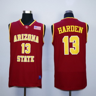 Men's Arizona State #13 James Harden Red College Basketball Nike Swingman Jersey