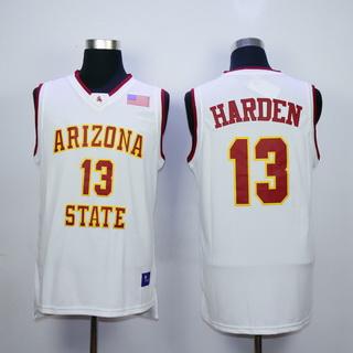 Men's Arizona State #13 James Harden White College Basketball Nike Swingman Jersey