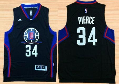 Men's Los Angeles Clippers #34 Paul Pierce Revolution 30 Swingman 2015-16 Black Jersey