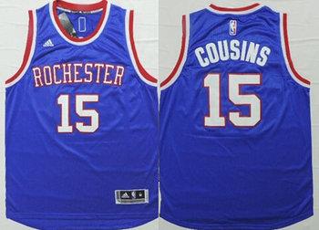 Men's Sacramento Kings #15 DeMarcus Cousins Revolution 30 Swingman 2014 New Blue Jersey