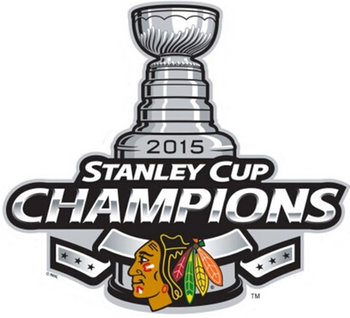 Chicago Blackhawks 2015 Stanley Cup Champion Patch