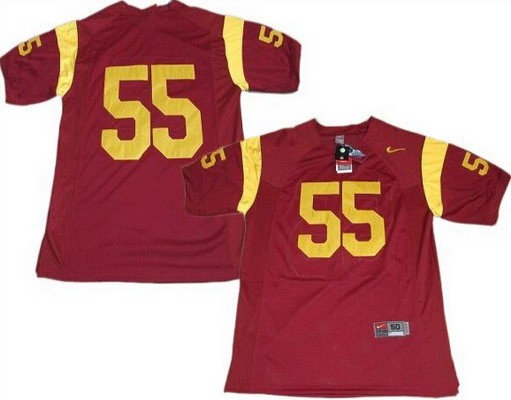 USC Trojans #55 Junior Seau No Name Red NCAA Football Nike Jersey