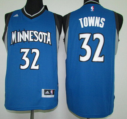 Men's Minnesota Timberwolves #32 Karl-Anthony Towns Revolution 30 Swingman 2015 Draft New Blue Jersey