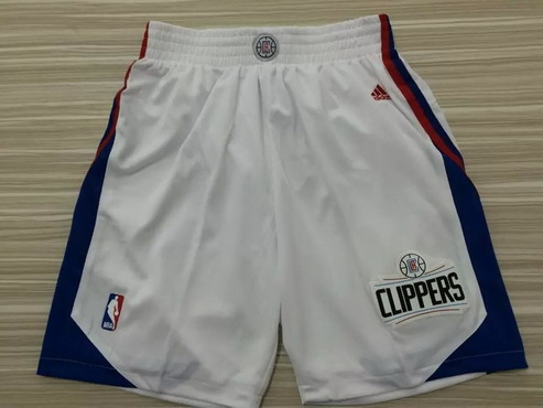 Men's Los Angeles Clippers 2015-16 White Shorts