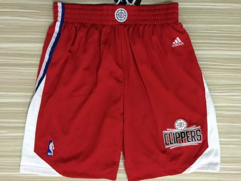 Men's Los Angeles Clippers 2015-16 Red Shorts