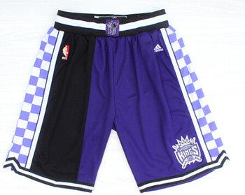 Men's Sacramento Kings 2015 Purple/Black Shorts